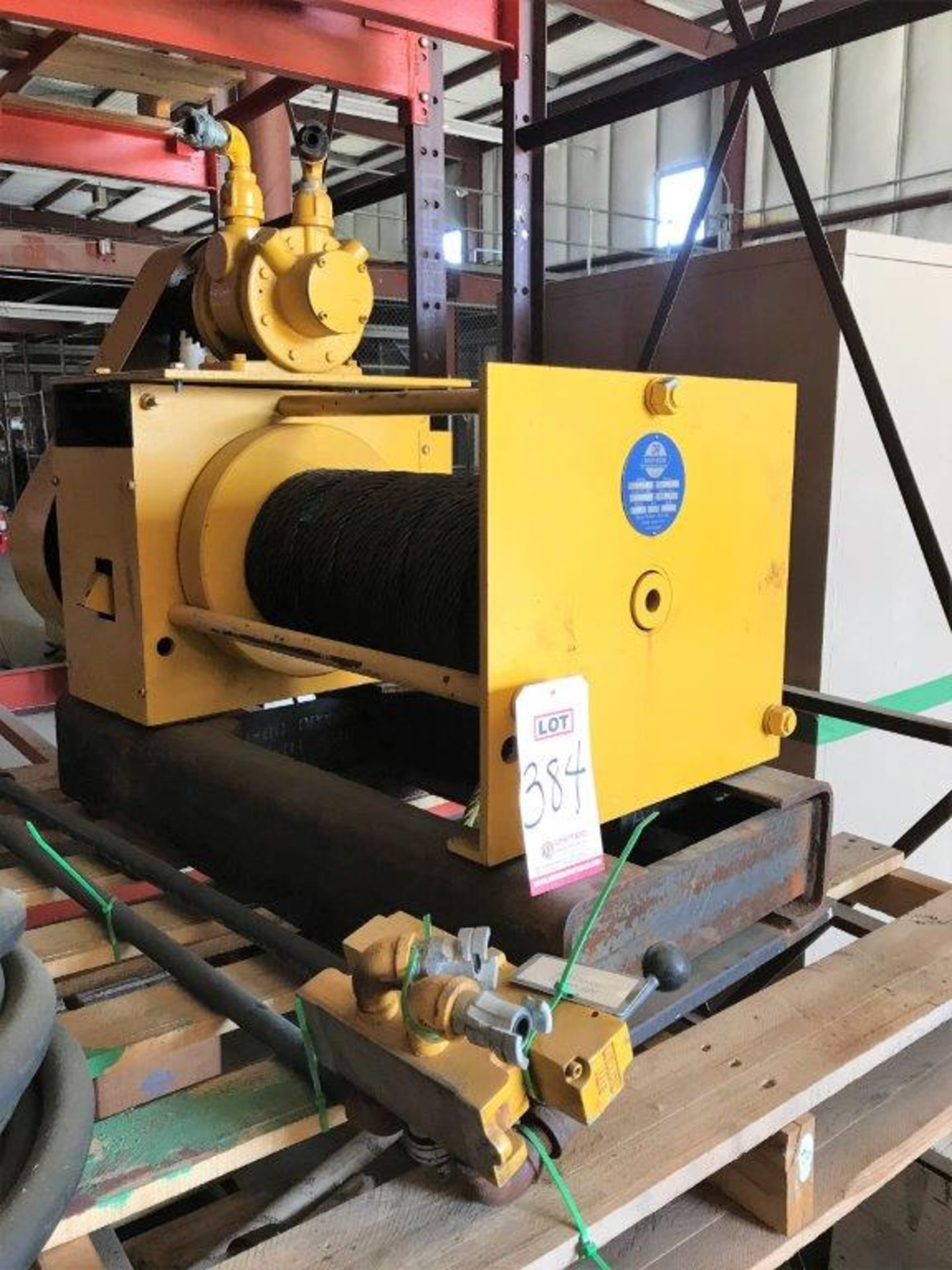 Lot 384 - DAVID ROUND, MODEL A202SR, 6 TON PNEUMATIC CABLE WINCH