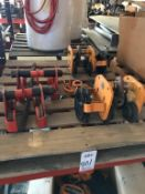 LOT - (4) ASSORTED CRANE TROLLIES: (2) HERRINGTON MODEL TF770 CHAIN DRIVEN TROLLIES AND (2) CM