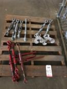 "LOT - (3) RATCHET CHAIN BINDERS, (7) 16"" TURNBUCKLES"