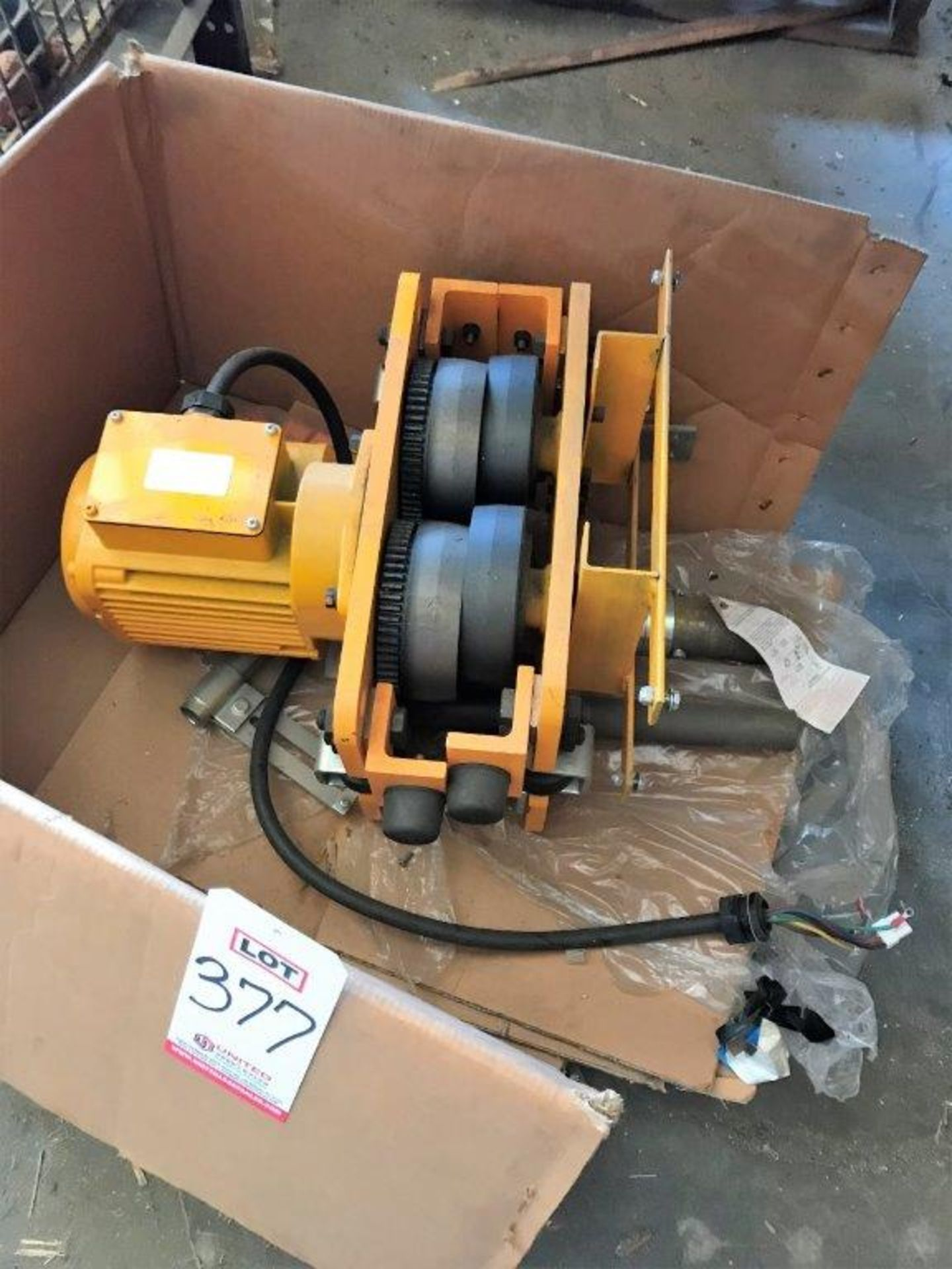 Lot 377 - KITO CORP., ELECTRIC TROLLY, 3-PHASE 1 HP