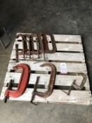 LOT - (8) ASSORTED C-CLAMPS