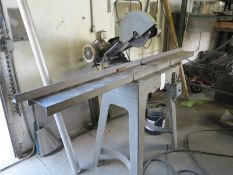 "5 HP INDUSTRIAL CUT OFF SAW, UP TO 14"" BLADE, 88"" X 6"" TABLE, 230/460V, 3 PHASE"
