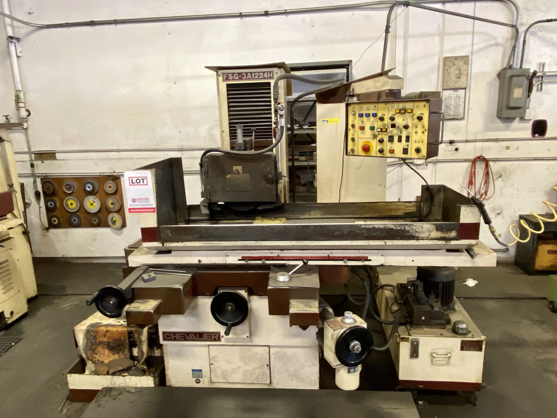 """Lot 0F - CHEVALIER FSG-3A1224H RECIPROCATING SURFACE GRINDER, 3-AXIS, HYDRAULIC, 12"""" X 24"""""""