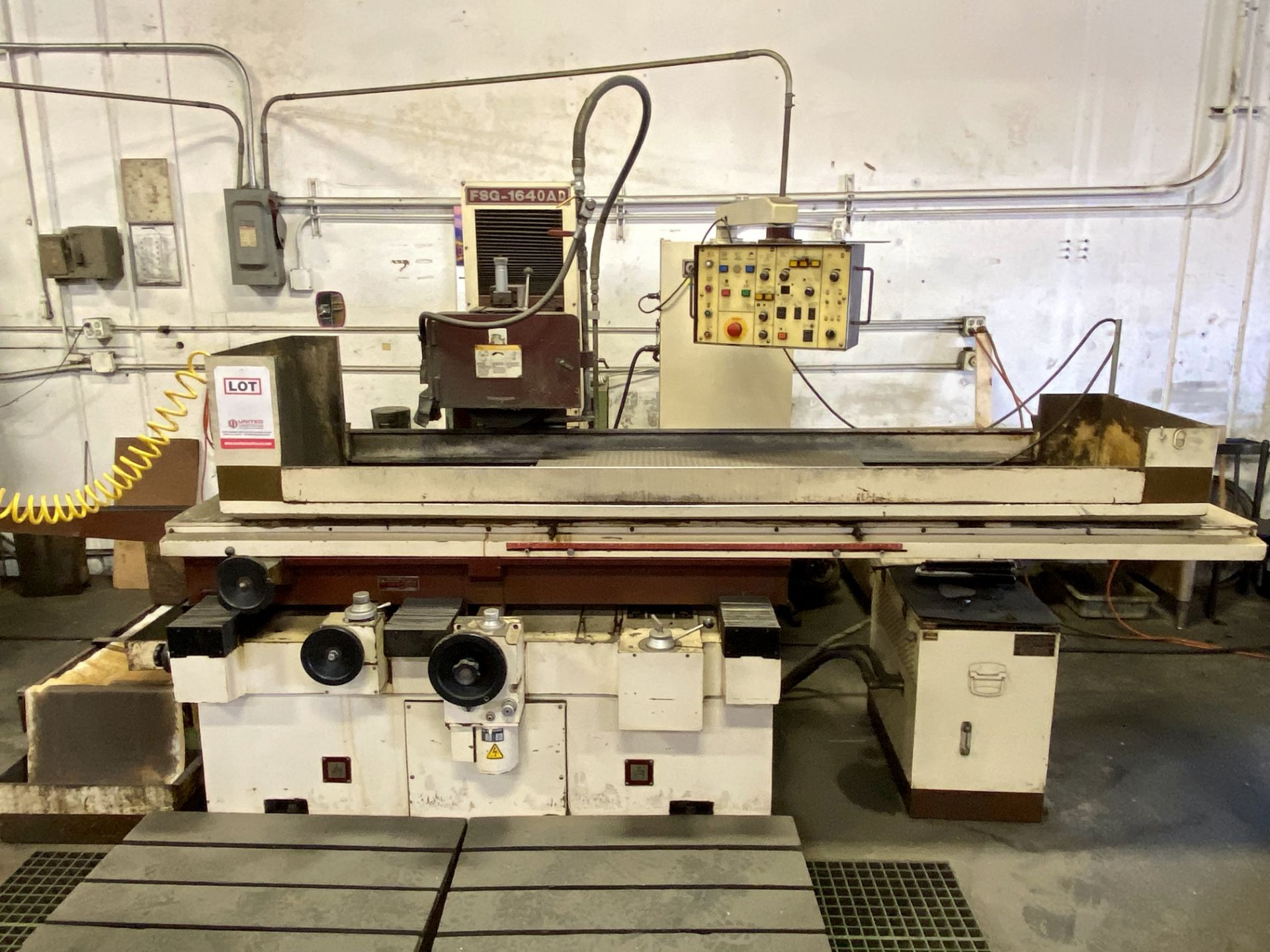 "Lot 0E - CHEVALIER FSG-1640AD RECIPROCATING SURFACE GRINDERS, 3-AXIS, HYDRAULIC, 16"" X 40"" ELECTRO MAG CHUCK"