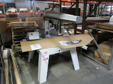 "CONQUEST IND. 15-3/4"" RADIAL ARM SAW, 4 HP, 230V, 3-PHASE, 60 HZ, MAX CUT DEPTH: 4-29/32"", NEW/"