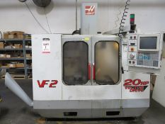 2000 HAAS VF2 VERTICAL MACHINING CENTER, 40 TAPER, 3-AXIS, 8100 RPM, 20 TOOL CAPACITY, 30 HP, S/N