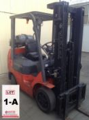 TOYOTA FORKLIFT, MODEL 7FGCU25, S/N 98442, 4500 LB CAPACITY, PICK UP ON FRIDAY, JULY 17.