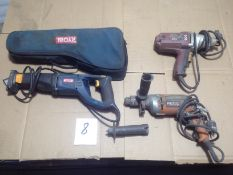 LOT - ELECTRIC RECIPROCATING SAW, DRILL, IMPACT GUN