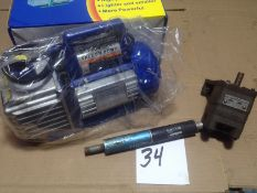 LOT - ELECTRIC VACUUM PUMP (NEW), PNEUMATIC VACUUM PUMP AND VIKING GEAR PUMP