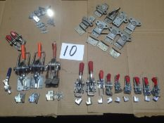 LOT - NEW TOGGLE CLAMPS AND CAM LOCKING CLAMPS