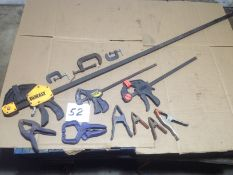 LOT - ASSORTMENT OF WOOD AND METAL WORKING CLAMPS