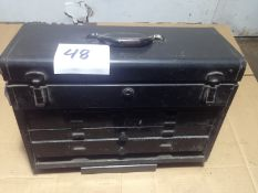 LOT - 7-DRAWER KENNEDY TOOL BOX, W/ CONTENTS TO INCLUDE: BORING BITS, SPADE BITS, COLLARS, ETC.