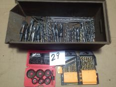 LOT - DRILL SET, HOLE SAW SET AND ASSORTMENT OF DRILLS