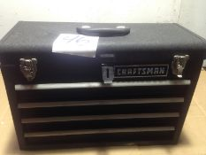 LOT - CRAFTSMAN 4-DRAWER TOOL BOX, W/ CONTENTS TO INCLUDE: WRENCHES, SCREWDRIVERS, ETC.
