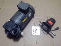 "LOT - CIRCULATION PUMP: CHEMICAL RESISTANT, 1.5"" NPT, 1.5 HP 230 1 PHASE BALDOR MOTOR AND FLOTEC"