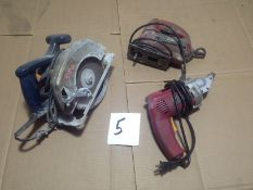 LOT - ELECTRIC METAL SHEARS, JIGSAW, CIRCULAR SAW