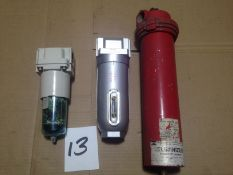 "LOT - INLINE COMPRESSED AIR PARTICLE FILTERS, 1"" NPT"