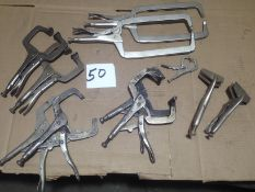 LOT - ASSORTMENT OF IRWIN VISE-GRIP LOCKING PLIERS