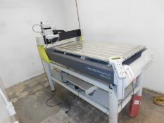 """2016 GRAVOGRAPH IS8000 ENGRAVING MACHINE, LARGE FORMAT, 28"""" X 51"""" WORK TABLE, S/N 119595-11"""