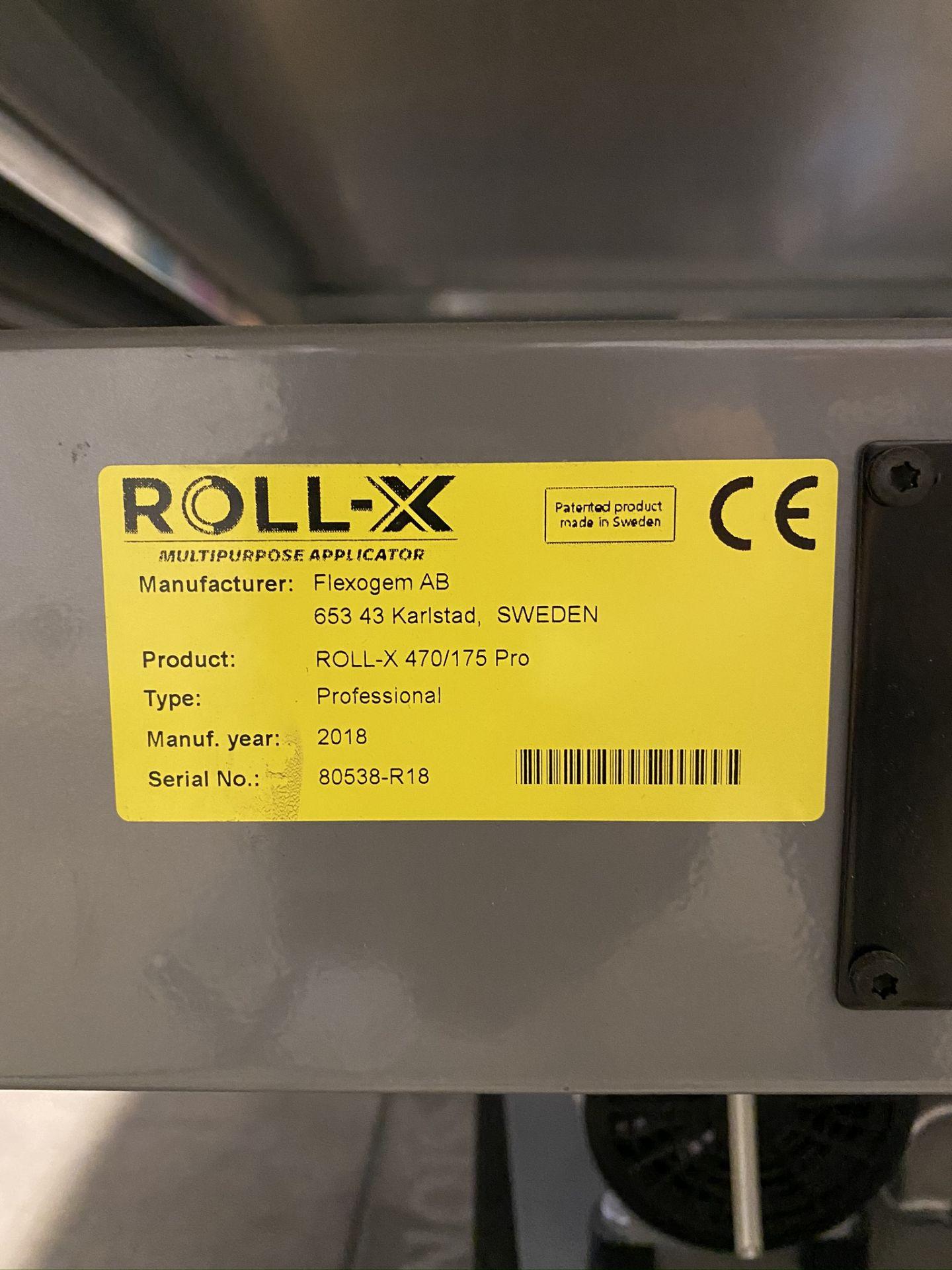 Lot 0A - 2018 ROLL -X MULTIPURPOSE FLATBED APPLICATOR, MODEL ROLL-X-470/175 PRO, S/N 80538-R18