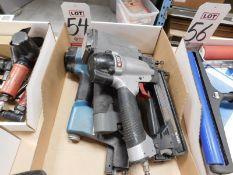 LOT - (2) PNEUMATIC STAPLE GUNS AND (1) PORTER CABLE NS150C BRAD NAILER