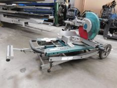 """MAKITA LS1216L 12"""" DUAL SLIDE COMPOUND MITER SAW, COMES W/ MAKITA WST01 RISING BASE MITER SAW STAND"""