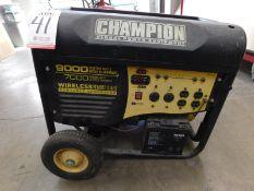 CHAMPION GAS POWERED GENERATOR, MODEL 41532, 9,000 STARTING WATTS, 7,000 RUNNING WATTS, WIRELESS
