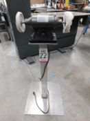 """CENTRAL MACHINERY 6"""" DOUBLE END BUFFER, 3450 RPM, 1/2"""" ARBOR, ON ALUMINUM PEDESTAL"""