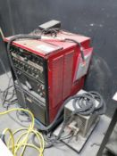 LINCOLN ELECTRIC SQUARE WAVE 355 TIG WELDER, W/ WELDCRAFT WATER CHILLER