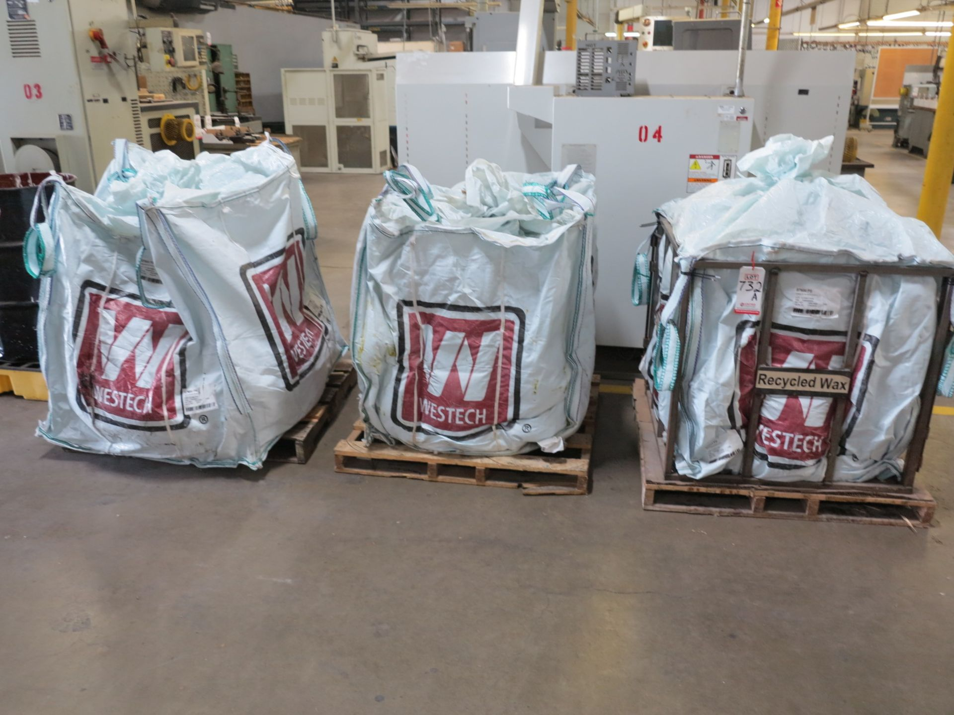 Lot 732A - LOT - (3) PALLETS OF MOLDING WAX, NEEDS TO BE RECYCLED