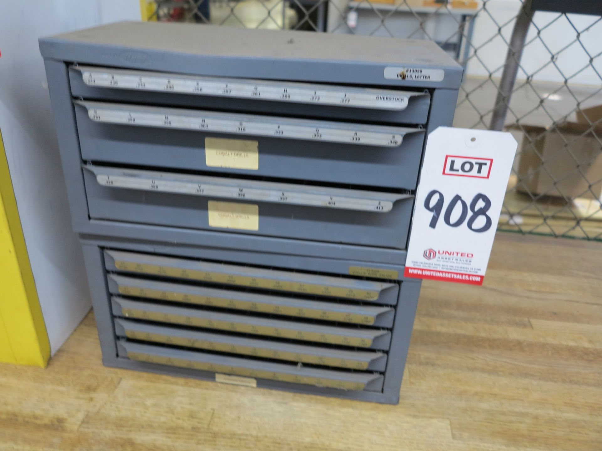 Lot 908 - LOT - (2) STACKING DRILL INDEXES, EMPTY