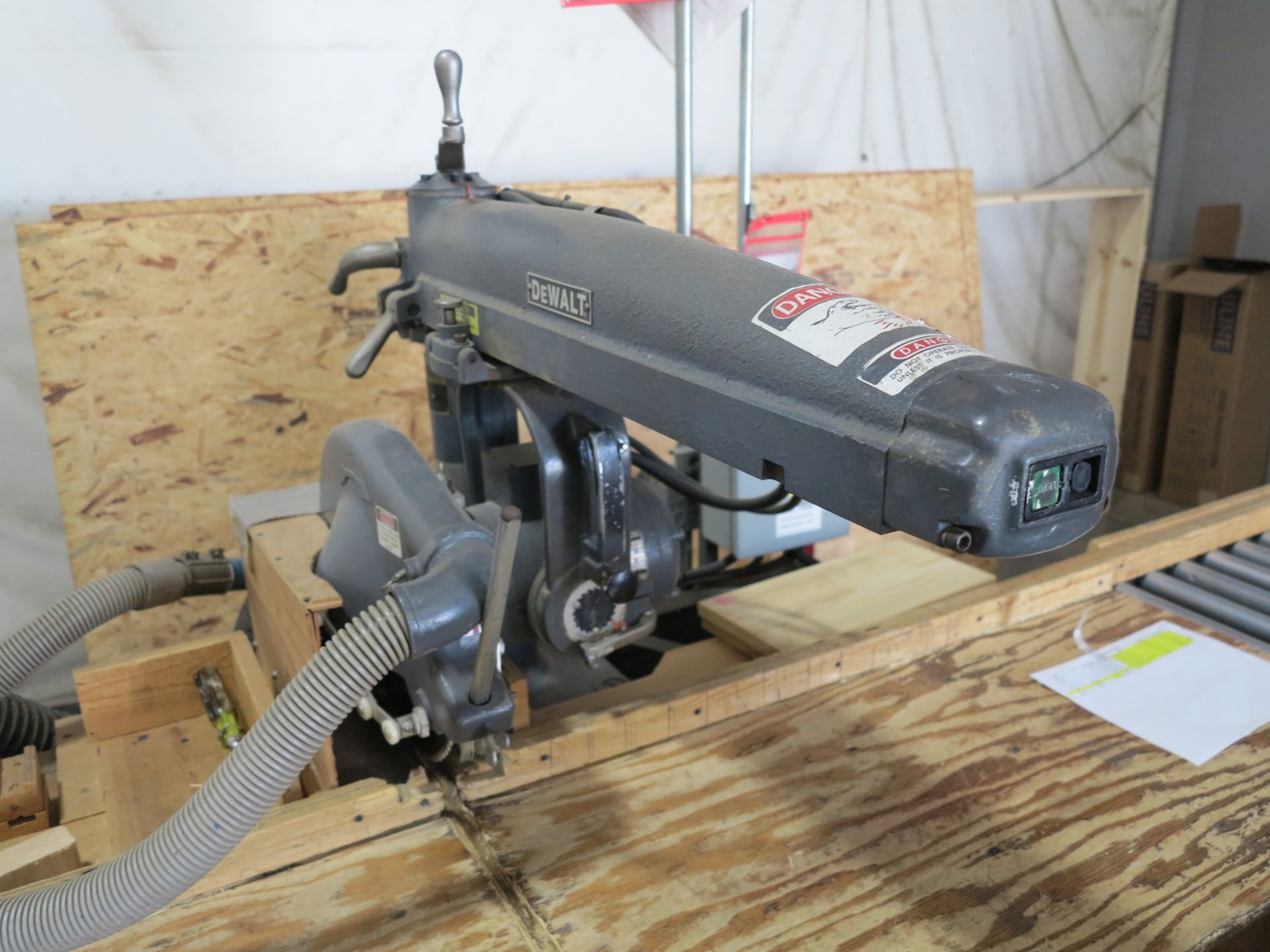 "Lot 852 - DEWALT 14"" RADIAL ARM SAW"