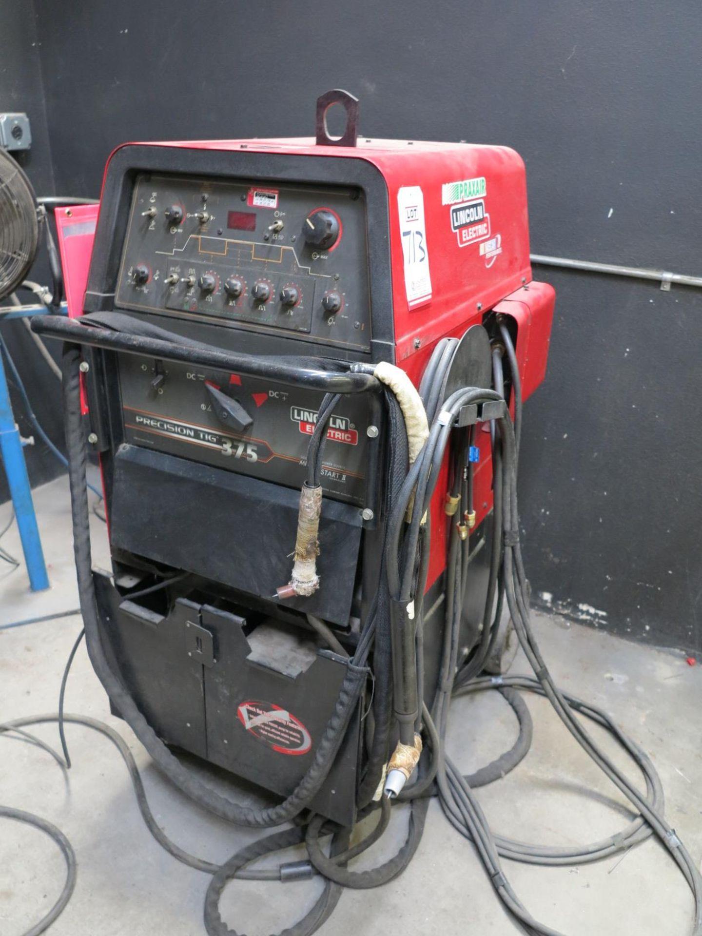 Lot 713 - LINCOLN ELECTRIC PRECISION TIG 375 WELDER