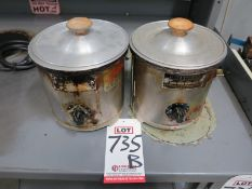 LOT - (2) RITEHETE HOT POTS, 1 QUART, TYPE VR