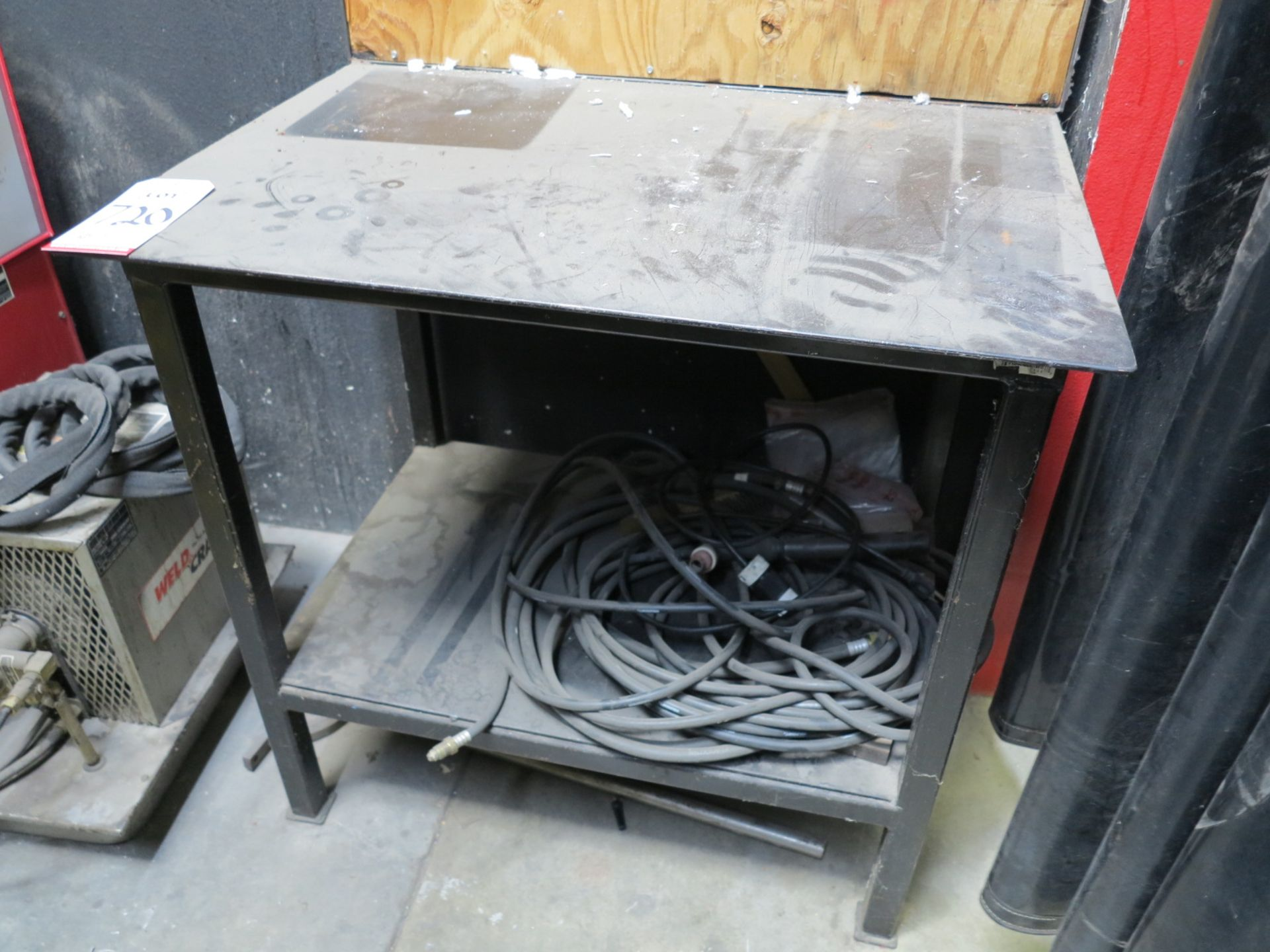 """Lot 720 - WELDING TABLE, 34"""" X 24"""" X 3/8"""" THICK"""