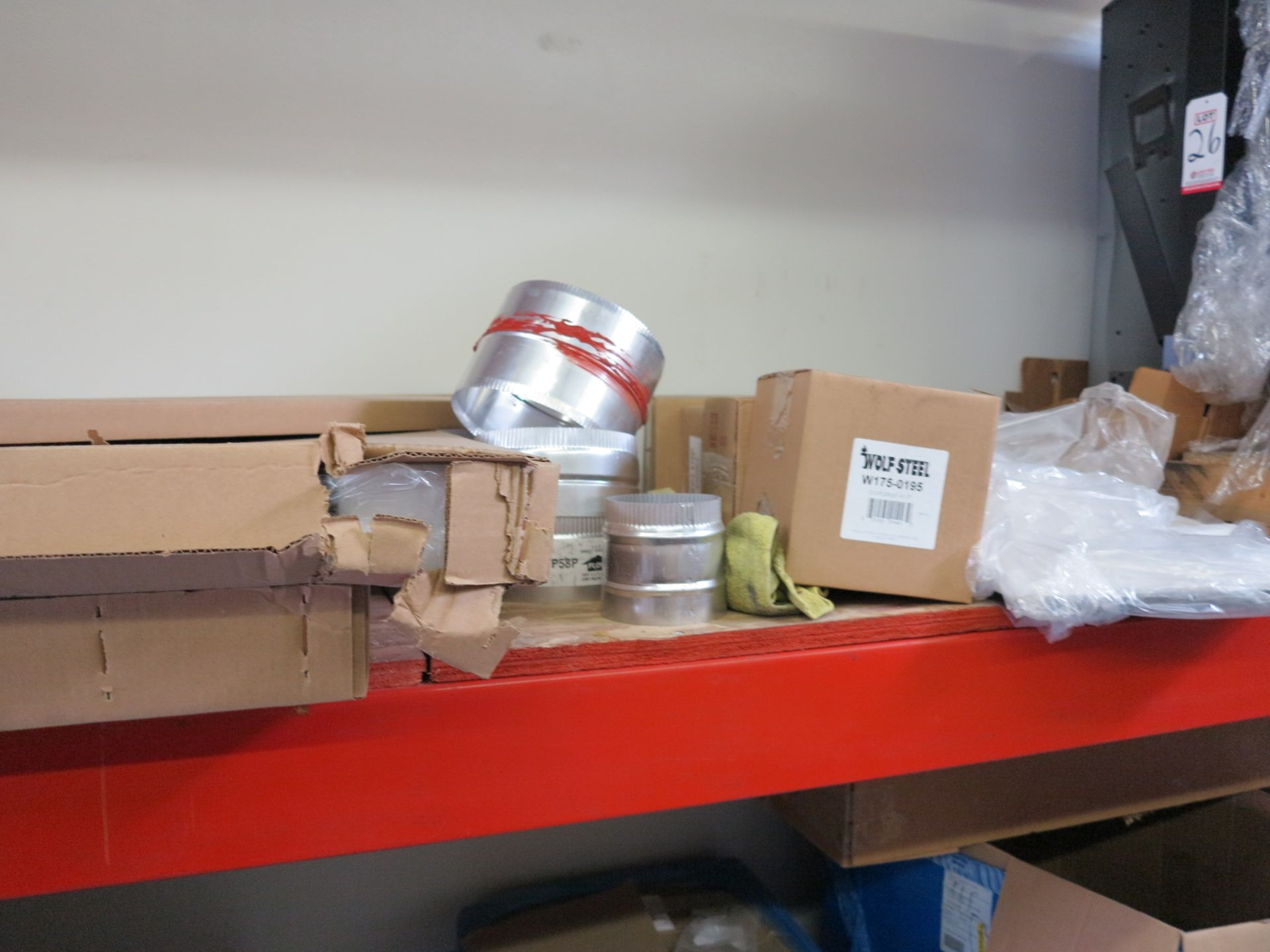 LOT - CONTENTS OF (3) SECTIONS OF PALLET RACKING, NOT INCLUDING TAGGED ITEMS - Image 8 of 9