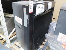 EMPIRE COMFORT GAS FIREPLACE INSERT, MODEL DVCT40CBP95N-1 (MISSING DOOR, BENT GLASS FRAME)