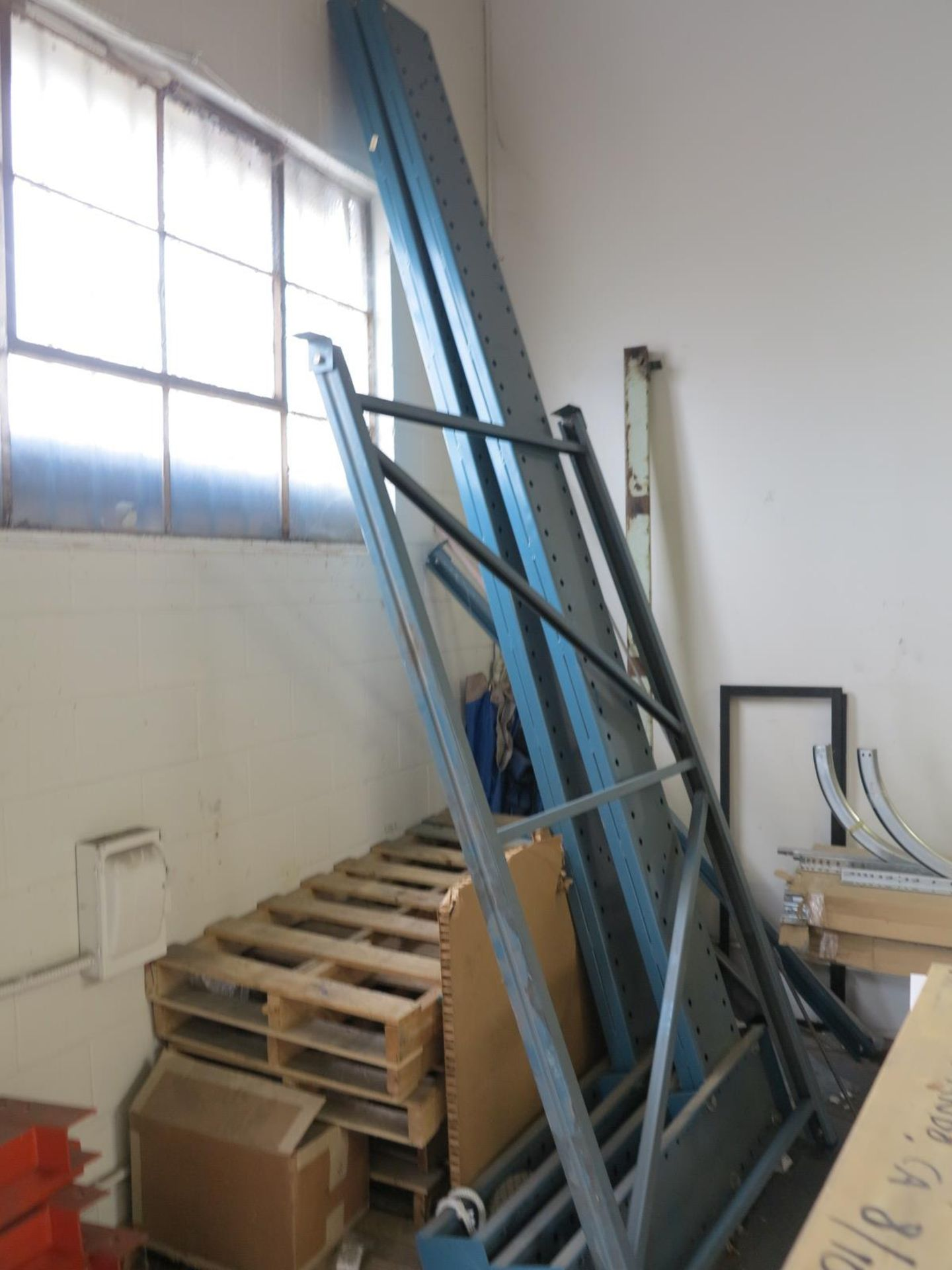 LOT - (1) SECTION OF CANTILEVER RACK, IN CORNER