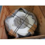 """OUTDOOR GAS FIRE RING, 42"""" DIA. ROUND, 24"""" TALL, WHITE, NEW, UNKNOWN MANUFACTURER"""
