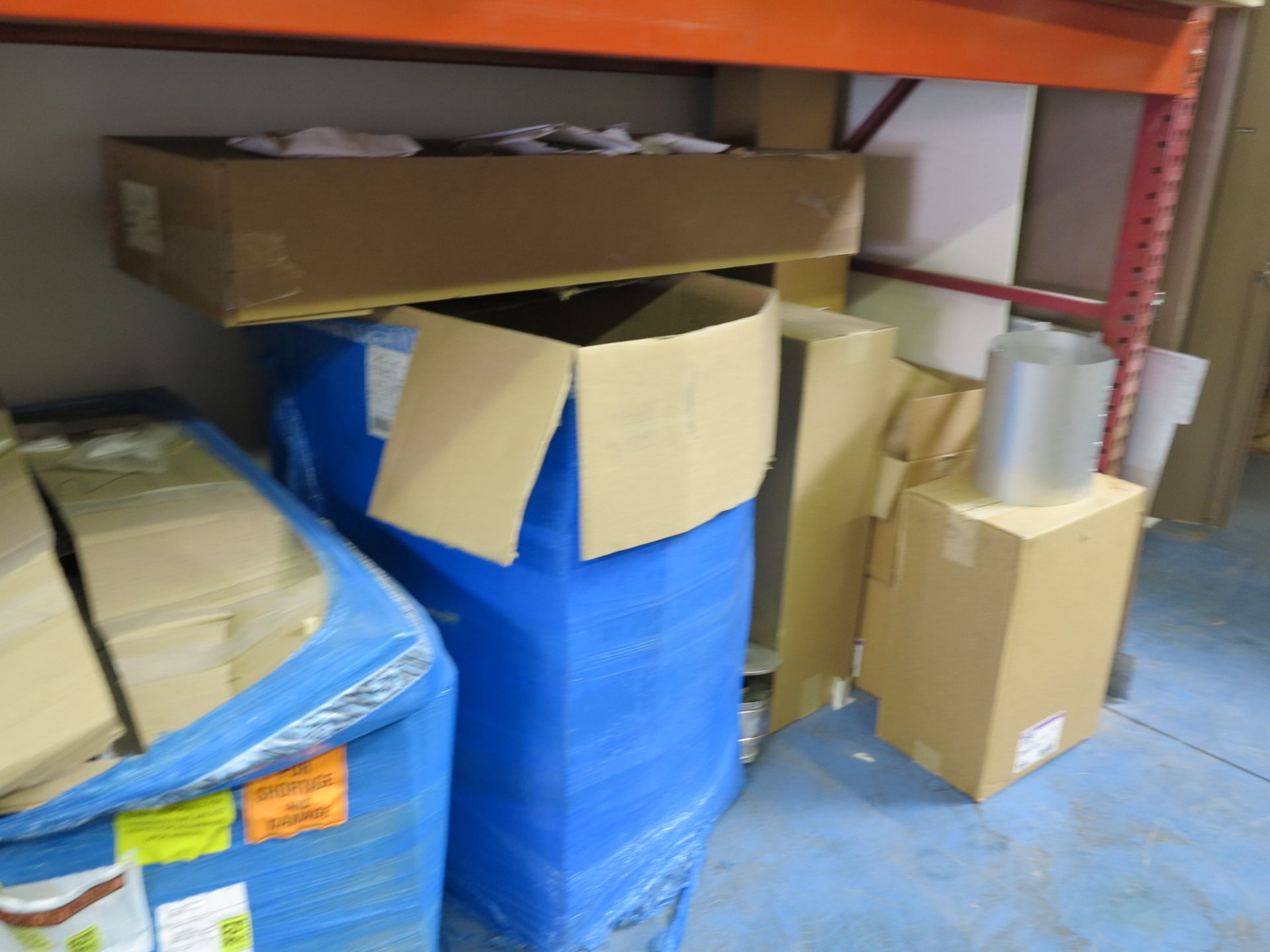 LOT - CONTENTS OF (3) SECTIONS OF PALLET RACKING, NOT INCLUDING TAGGED ITEMS - Image 6 of 9
