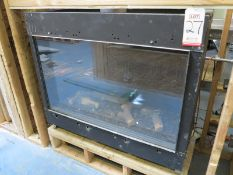 GAS FIREPLACE INSERT, NO BRAND OR MODEL