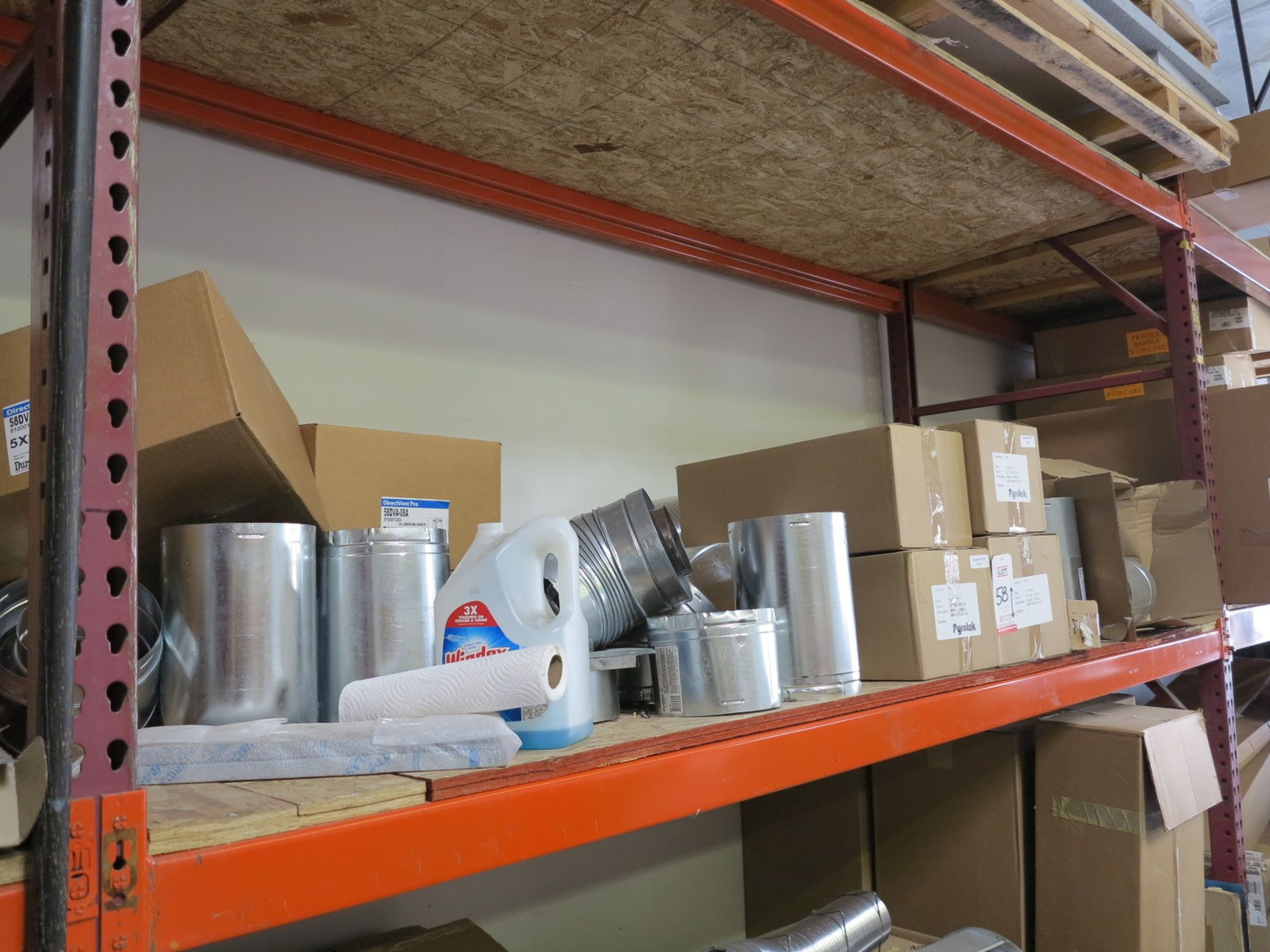 LOT - CONTENTS OF (1) SECTION OF PALLET RACKING, MISC STOVE PARTS - Image 2 of 3
