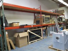 LOT - (3) SECTIONS OF PALLET RACKING, 6' BEAMS, 10' UPRIGHTS, CONTENTS NOT INCLUDED