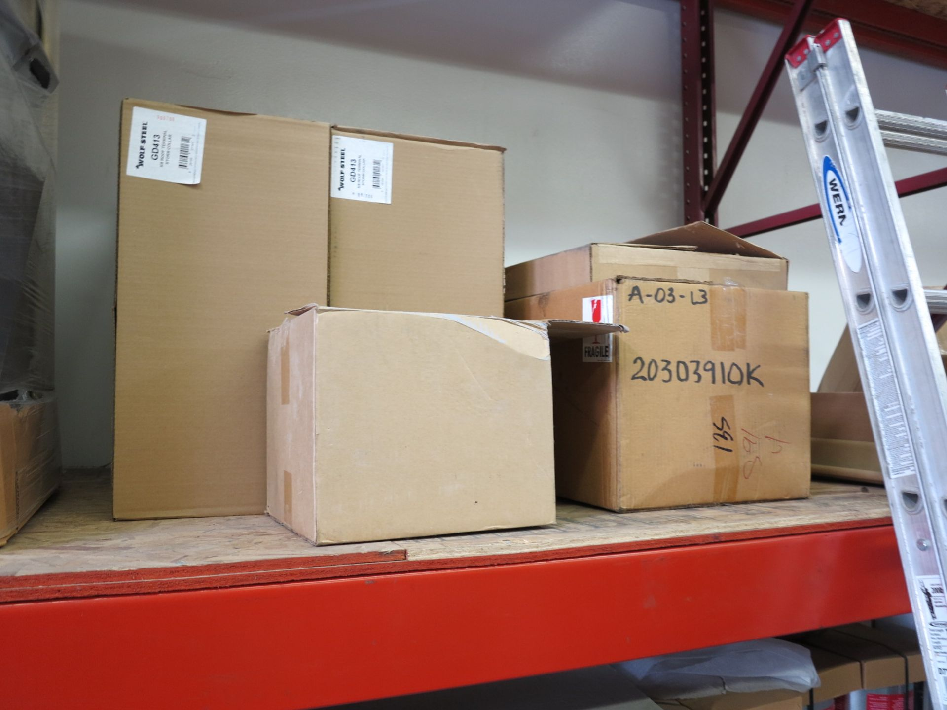 LOT - CONTENTS OF (3) SECTIONS OF PALLET RACKING, NOT INCLUDING TAGGED ITEMS - Image 4 of 9
