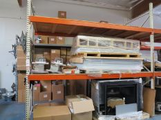 LOT - CONTENTS OF (2) SECTIONS OF PALLET RACK, NOT INCLUDING TAGGED ITEMS