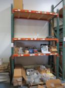 LOT - (1) SECTION OF PALLET RACKING, 12' BEAMS, 12' UPRIGHTS CONTENTS NOT INCLUDED
