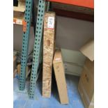 LOT - (4) CRATES OF FIREPLACE GLASS