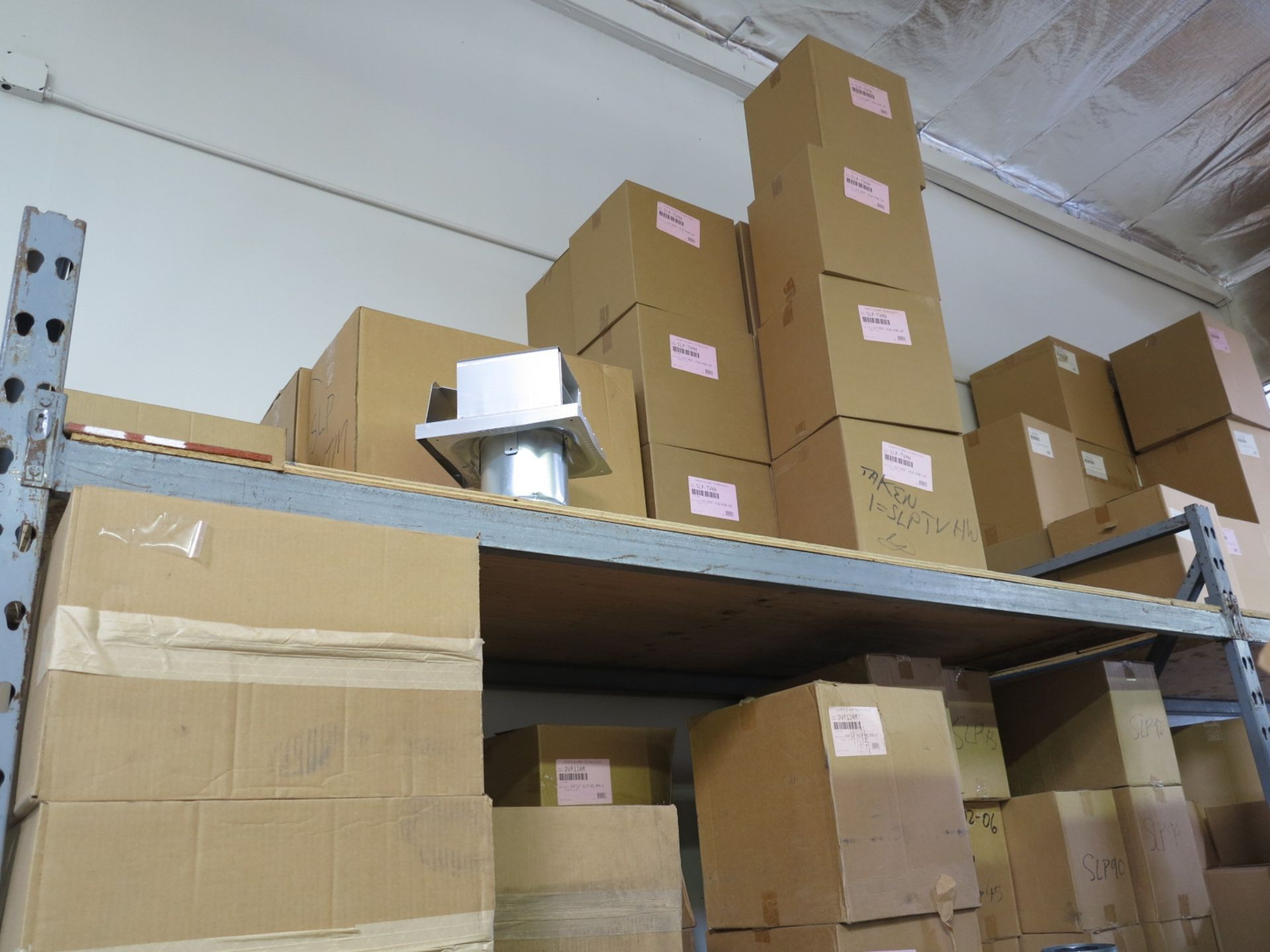 LOT - CONTENTS OF (1) SECTION OF PALLET RACKING, MISC STOVE PARTS - Image 4 of 4