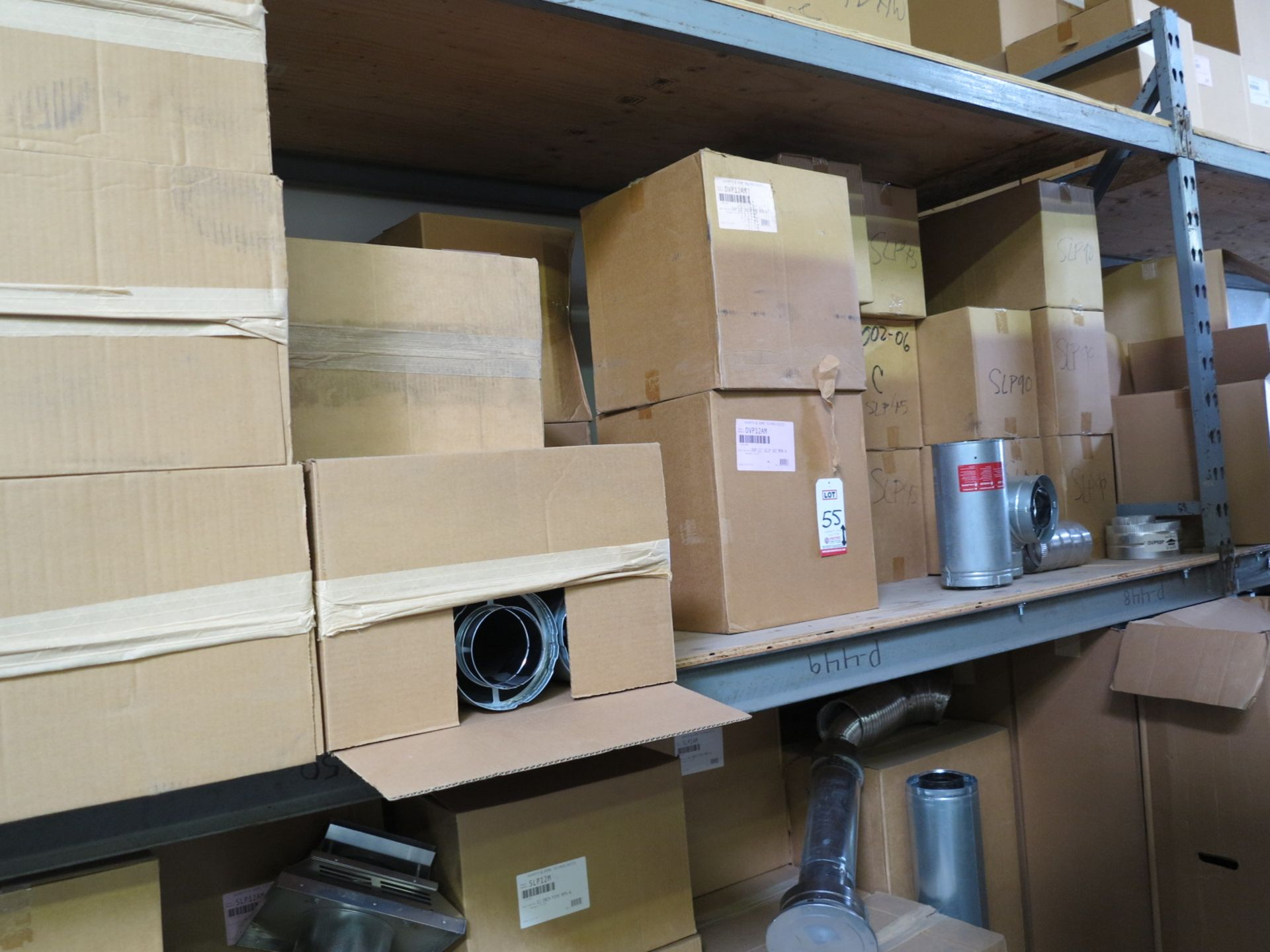 LOT - CONTENTS OF (1) SECTION OF PALLET RACKING, MISC STOVE PARTS - Image 3 of 4