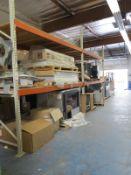 LOT - (2) SECTIONS OF PALLET RACK, 12' BEAMS, 12' UPRIGHTS CONTENTS NOT INCLUDED